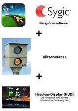 Sygic Navisoftware+Blitzer+HUD für Smartphone, Navi, Tablet als Softwaredownload