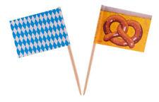 50 OKTOBERFEST FLAG PARTY PICKS COCKTAIL STICKS