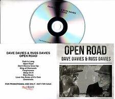 DAVE DAVIES & RUSS DAVIES Open Road 2017 UK 9-trk promo test CD