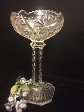 Bohemain Glass? Tall Compote 9 1/2 ""