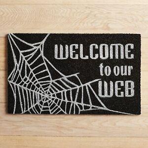 NWT PIER I OUTDOOR HALLOWEEN DOOR MAT- WELCOME TO OUR WEB