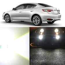 Alla Lighting Fog Light H11 Super Bright 6000K White 12V LED Bulbs for Acura ILX