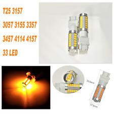 Amber Rear Turn Signal Light T25 3057 3157 4157 33 LED Bulb A1 For Dodge AX