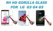 NEW 9H HARD PREMIUM BALLISTIC TEMPERED GORILLA GLASS PROTECTOR FOR LG G3 G4 G5