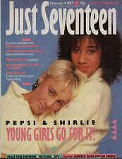 Just Seventeen Magazine 4 February 1987    Pepsi & Shirlie    Paul Weller