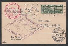 1930 GRAF ZEPPELIN C13 on ICA Cameras postcard - New York to Friedrichshafen