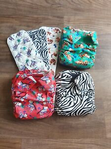 Bambino Mio Miosolo Birth To Potty All In One Reusable Nappies x3 with Inserts