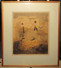 "Edward Landon Rare 1940s Abstract Serigraph ""Rachel's Veil"" Listed Artist"