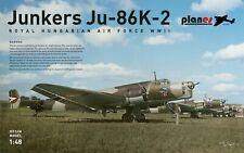 Junkers Ju86-K2 Royal Hungarian Air Force 48th scale Resin Kit Improved Version