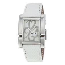 Milus Apiana White Leather Strap Ladies Watch APIS01WLS