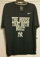 NIKE NY YANKEES THE HOUSE THAT RUTH BUILT T SHIRT - SIZE LARGE - NWT