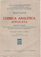 Vittorio Villavecchia Trattato di chimica analitica applicata volume II Hoepli 1
