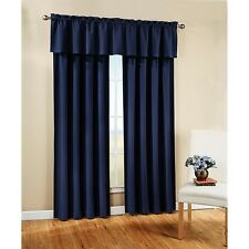 NEW Peachskin ONE Tailored Window Curtain Valance 42 x 15, Navy!