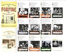 Complete Foxfire Series Set Vols.  1-14 including 40 & 45 Anniversary Books -NEW