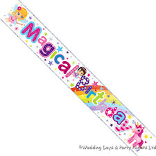 9ft Magical Birthday Banner Unicorn Rainbow Fairy Girls Party Wall Decoration
