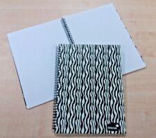 3x Silvine A4 Spirale Twinwire RILEGATO nota LIBRO Animal Print cover Zebra