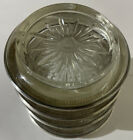Set of 4 Vintage Frank M. Whiting  Sterling Silver Rimmed Glass Coasters
