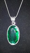 ✔JAYNES GEMS   FAB 925 CHROME DIOPSIDE  PENDENT & 925 SILVER SNAKE CHAIN