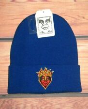 MENS OBEY ROYAL BLUE BEANIE HAT ONE SIZE