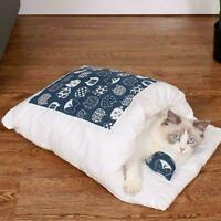 Pet Cat Dog Nest Bed Puppy Cute Warm Cave Home Winter Bag Size S-M-L V4O2
