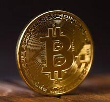 Gold BTC Coin commemorative coin Physical Bitcoins Casascius Bit BTC Collection