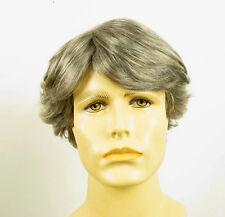 Perruque homme 100% cheveux naturel gris poivre et sel ref JUSTIN 44