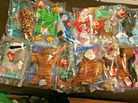 McDonalds 1999 Ty Teenie Beanie Babies Complete Set of 12 New & 2 bags & 2 toys