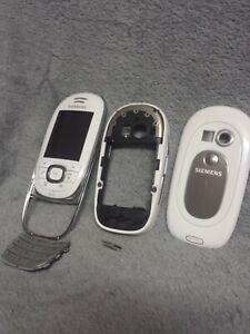 Siemens SL75 Handy Gehäuse weiss #6 BC vintage phone case cover housing white