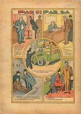 Caricatures Garçon de Café Bistro Police Vaches Medecin France 1934 ILLUSTRATION