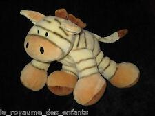 Doudou Ane Zèbre Ane Cheval tigré jaune marron Simply Soft Collection Keel Toys