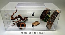 TERRESTRIAL 45 GALLON FD ACRYLIC CAGE WITH DOORS FOR SNAKES,TERRARIUM, REPTILE