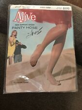 Vintage 60s 70s Hanes Alive Pantyhose Nylons Sheer Support #809 Petite