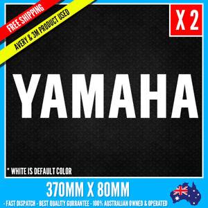 2 x Yamaha Logo vinyl cut sticker decals Large 370mm X 80mm Bike Mortobike