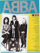 ABBA One of Us lyrics magazine PHOTO/Poster/clipping 11x8 inches