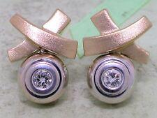Diamant Brillant Ohrstecker 750 Bicolorgold 18Kt Gold 0,25ct Wesselton Si
