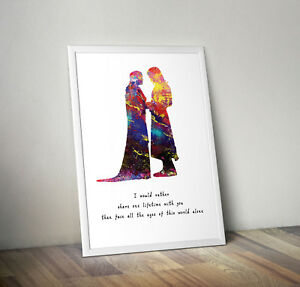 Lord of the rings, print, poster, picture, quote, wall art, gift, romantic
