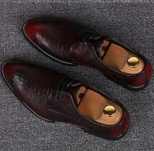 MENS  CASUAL FORMAL BROGUE OXFORD OFFICE WEDDING SHOES UK REAL LEATHER ITALIAN