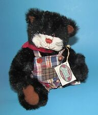 Ganz Cottage Collectibles Sneakers Black Cat Patch Overalls  By Lorraine 1995
