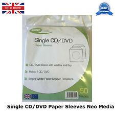 50 SINGOLO CD DVD CARTA Maniche WALLET Nuovo Alta Qualità 50 per confezione Neo Media