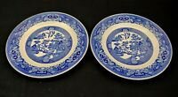 Vintage Royal China Willow Ware Dinner Plates Set of 2 Blue and White