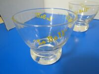Vintage Set Of 4 Lo-Ball Cocktail Glasses Blue Yellow Clear 6 Oz