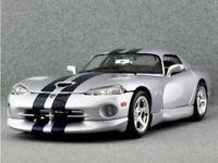 DODGE Viper GTS Coupe - Silver / black - Bburago 1:18