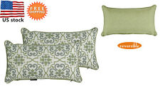 Bossima Outdoor Patio Decorative Throw Toss Pillows Damask/Piebald,Set of 2