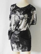 Young Fabulous & Broke Mini Dress Gray Tie-Dye Dolman Sleeve Size XS