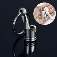 Creative Metal 3D Piston Charm Pendant Keychain Keyring Key Chain Gift NEW