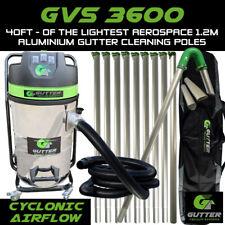 More details for 3600w gutter vacuum 40ft lightest 1.2m aerospace aluminium gutter cleaning poles