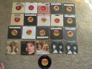 Barbra Streisand 45 Records - lot of 21