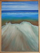 "Original Oil on Canvas ""Low Tide"" 24 by 32 inches by Ross D Jahnig"