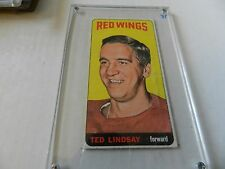 1964 65 Topps Ted Lindsay #82 Tall Boys Detroit Red Wings HOF EX No Creases