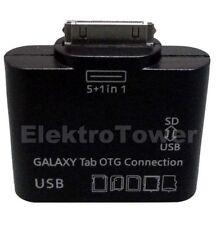 Adattatore OTG CONNECTION KIT LETTORE DI SCHEDE USB per Samsung Galaxy Tab 2 10.1 p5110